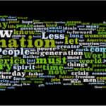 Obama's Inauguration Speech, Wordled.