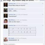 Jamming on de Facebook.