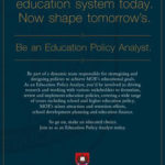 Education Policy Analyst?